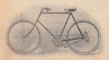 G2578 Bicyclette à trois vitesses rétro-directes Magnat et Debon - 1905 print