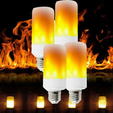 4-PACK E27 LED Flame Effect Fire Light Bulb Flickering Lamp Simulated Decorative