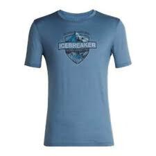 Icebreaker Tech Lite Ss Crew Alpine Crest Top (M) Granite Blue