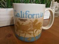 "STARBUCKS 2012 ""California"" Surfer Palms Redwood Coffee Mug Cup 16 oz Collector"
