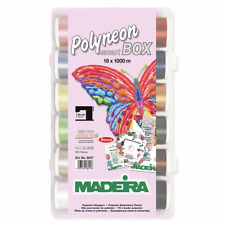 Madeira 18 x 1000m Polyneon No.40 Embroidery Thread Box Set Pack Gift