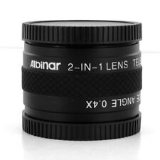 40.5mm 2-in-1 Lens Tele zoom 1.7x/0.4x Wide for Samsung NX1100 NX300 w/20-50mm
