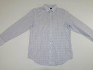 Banana Republic Men's Non Iron Classic Fit Dress Shirt Large 16 - 16.5 NWT Check