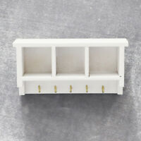 KQ_ 1/12 Dollhouse Wooden Storage Rack with Hook Kitchen Furniture Accessory Eag