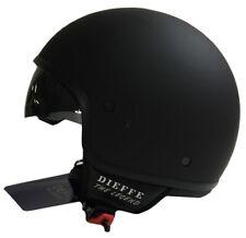 Casco demijet Dieffe con visiera a scomparsa nero opaco taglia M 57 cm
