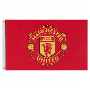 Manchester United FC Football Core Crest Flag