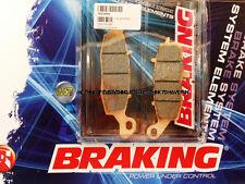 POUR KAWASAKI ER5 500 2005 05 PLAQUETTES DE FREIN AVANT Sintérisés BRAKING
