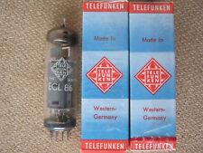 2x ECL86 / 6GW8  audio tubes  TELEFUNKEN <>   -  NOS  /  SEALED    -  ECL 86