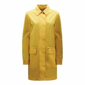 Hunter Ladies Yellow Rubberised Waterproof Raincoat Mac Jacket Coat XS £220