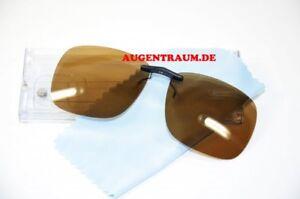 Clip On für Change me Brillen Sonnenclip Polarisierend in Braun Clip Neu