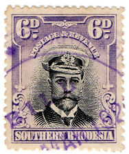 (I.B) Southern Rhodesia Revenue : Duty Stamp 6d