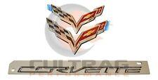 2014-2019 Chevrolet C7 Corvette Genuine GM Chrome Emblem Kit 23375965
