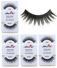 6 Pairs AmorUs 100% Human Hair False Eyelashes # 62 compare Red Cherry