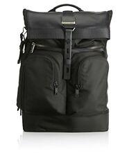 Tumi Men's Alpha Bravo London Roll-Top Backpack, Black 1041, One Size