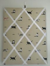 Hand Made Fabric Notice Board In Sophie Allport Purfect Fabric