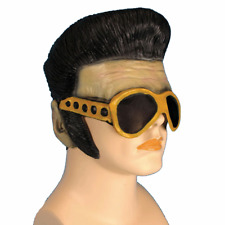 Elvis Presley Mask And Sunglasses Sideburns Hair Wig King Of Rock And Roll Vegas