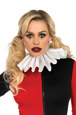Brand New Medieval Jester Clown Satin Pleated Ruffle Collar Accessory
