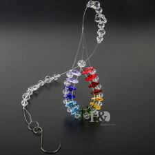 "H&D Rainbow Suncatcher Crystal Octagonal bead Chakra Prisms Home Decor 18.9"""