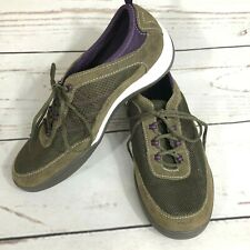 Grasshoppers Ortholite Women's Suede Mesh Sneakers Brown Size 6.5