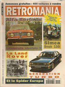 RETROMANIA 49 ALFA ROMEO GIULIA COUPE BERTONE LAND ROVER FIAT 124 SPIDER EUROPA