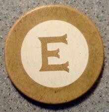 Vintage LETTER E Poker Gambling Chip Casino Game