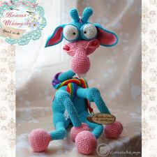 Crochet Giraff Stuffed farm animal Knitted toy Amigurumi plush crazy