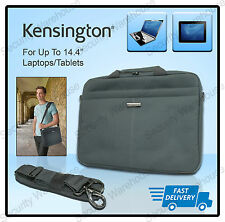 "Kensington Ls240 13"" 14"" Laptop Bag Tablet Padded Carry Case Colour Grey"