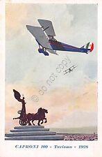 Cartolina - Illustrata - aereo -  Caproni 100 - Turismo - 1928