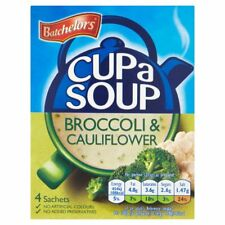 Batchelors Cup a Soup Broccoli & Cauliflower 4 pack 101g -Sold Worldwide from UK