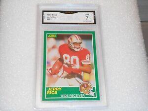 Jerry Rice GRADED CARD!! 1989 Score #221 San Francisco 49ers HOFer! 7%