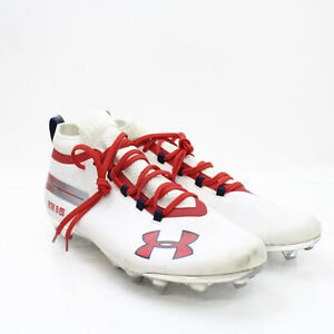 Under Armour Football Cleat Men's White/Red Used