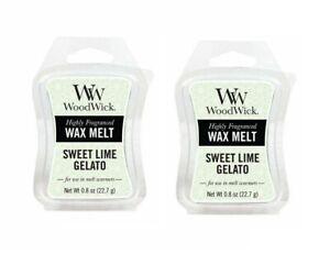 Woodwick Highly Fragranced Wax Melt SWEET LIME GELATO New- 22.7 Gram