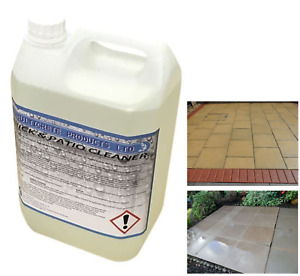 Brick Patio Cleaner Industrial Strength Acid Yard Drive Dirt Moss Remover 5ltr
