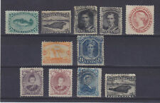 NEWFOUNDLAND 1865-1868, 11 STAMPS, HIGH SG VALUE!