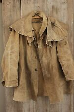 Men's chore coat French Hunting rain LINEN canvas jacket coat PARIS 1920