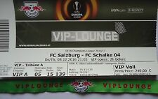 TICKET VIP Lounge & Band UEFA EL 2016/17 FC Salzburg - FC Schalke 04