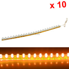 10x Yellow Flexible Strip Light 24CM 9.4' Waterproof 24 Great Wall LED M001