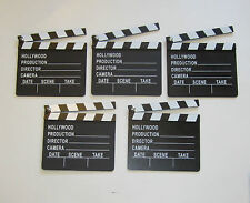 5 NEW MOVIE DIRECTOR'S CLAPBOARD PROP HOLLYWOOD CLAPPER CHALKBOARD PARTY DECOR