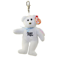 TY Beanie Baby - BRAVO the Angel Flight Bear ( Metal Key Clip - Australian Excl
