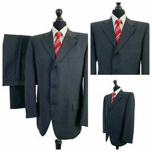 Westbrook 2 Piece Suit Mens 44R 36W 32L Grey 100% Wool Formal P184