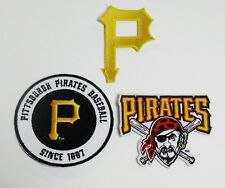LOT OF (3) PITTSBURGH PIRATES LOGOS & SINCE 1887 PATCH PATCHES ITEM (C)ITEM # 64