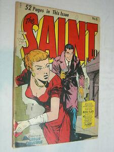 The Saint #5 G/VG GGA Headlights Miss Fury by Tarpe Mills