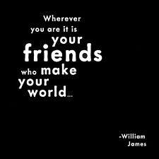 Quotable Friends make your world quote Greeting Blank Card for her friendship