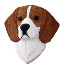 Beagle Head Plaque Figurine Red