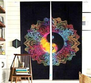 Window Curtain Indian Mandala Yin Yang Home Decor Tie Dye Arch Balcony Curtains