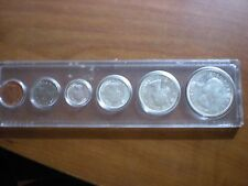 1963 Canada Mint set   6 coin set  1.10 OZT silver in Capital Holder