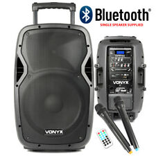 Vexus Portable Speaker Battery Powered Bluetooth PA System 600w Wireless 2x Mics