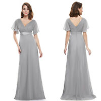 Ever-Pretty Womens Batwing Sleeve Party Dress Bridesmaid Dress Long Grey 09890