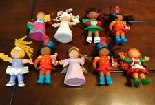 Lot of 9 VTG Cabbage Patch Kids Dolls PVC Happy Meal 1992-94 Holiday Toys 3.5""