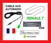 Cable jack aux mp3 autoradio RENAULT UDAPTE LIST 6pin + 2 cles kangoo clio